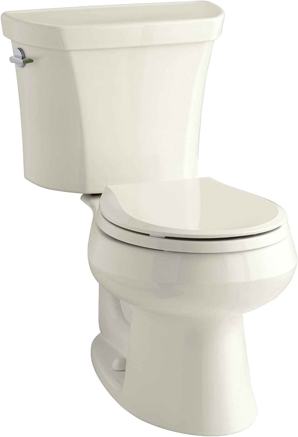 KOHLER K-3987-96 Wellworth Two-Piece Round-Front Dual-Flush Toilet with Class Five Flush System