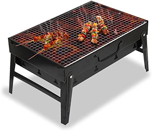 new arrival iKiKin Portable BBQ Charcoal Grill Barbecue popular Grill Small BBQ Grill outlet online sale for Garden Outdoor Grilling Cooking Camping online sale