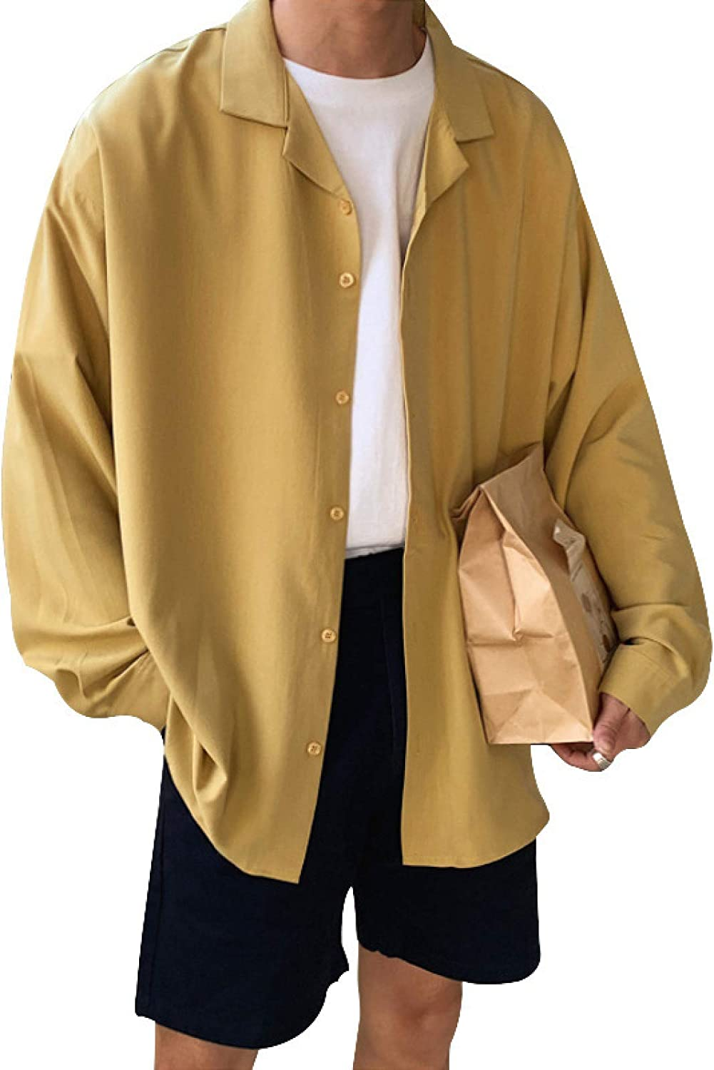 Men's Cardigan Solid Color Long Sleeves Simple and Comfortable Large Size Retro