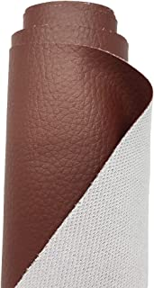 A-Express Grained Faux Leather Fabric Waterproof Heavy Duty Leatherette Vinyl Leathercloth Upholstery Textured Material - Brown 1 Metre 100cm x 140cm
