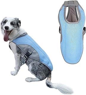 Meiyiu Swamp Cooler Dog Cooling Vest Jacket Coat for Puppy Dog Large Dog Blue L