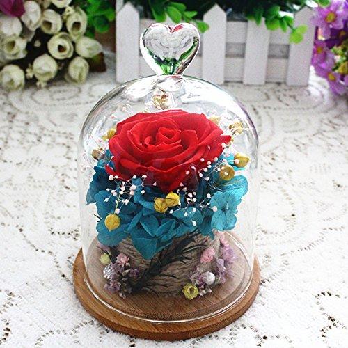 FLCP Artificial Flowers Fleur éternelle/Rose Rouge/Carnation/Fleurs fraîches/boîte de Cadeau du Jour de Valentine-L