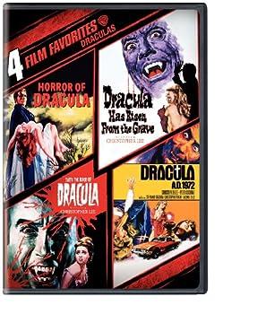 4 Film Favorites  Draculas  Dracula A.D 1972 Dracula Has Risen from the Grave Horror of Dracula Taste the Blood of Dracula