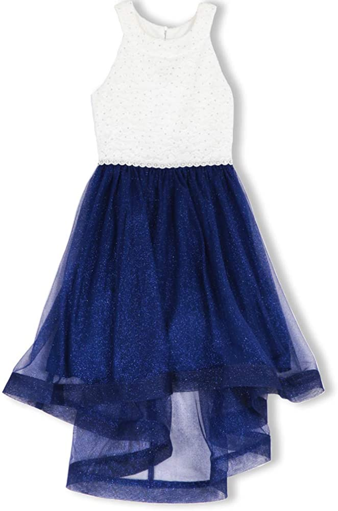 Speechless Girls' 7-16 Tween Maxi Dress Hem Ribbon Wide with for 10%OFF 本日限定