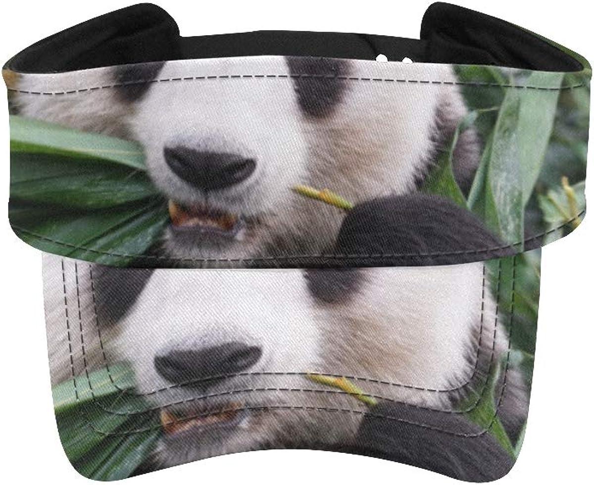 Sun Sports Visor Hat Giant Panda Leaves Athletic Phoenix Mall Bamboo New Free Shipping Eat