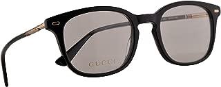 GG0390O Eyeglasses 50-21-140 Black Gold w/Demo Clear Lens 001 GG 0390O