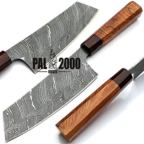 PAL 2000 Damascus Steel Chef Keuken Messen - 7.4 Inch Ongeveer Volledige Tang Damascus Steel Chef Mes - Beste Handgemaakte Damascus Keuken Mes Met Schede Kopen Met Vertrouwen 9283