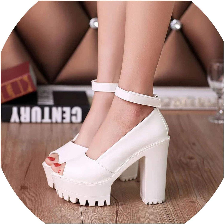 Fortune-god Platform shoes High Heels Women Pumps shoes Fish Head High Heel