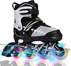 Otw-Cool Adjustable Inline Skates for Kids and Adults, Inline Skates with All Wheels Light up, Safe and Durable Inline Rol...