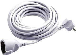 Meister Schutzkontakt-Verlängerung - 3 m Kabel - weiß - Kunststoffleitung - IP20 Innenbereich / Verlängerungskabel mit Kindersicherung / Schuko-Verlängerung / 7432310