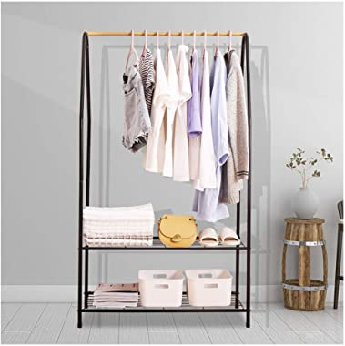YMJ Metal Stand Rack Coat, Two-Story Rack Hall Tree Free Standing, Clothes Stand, Hat Bag Rack Standing Entryway Coat Racks