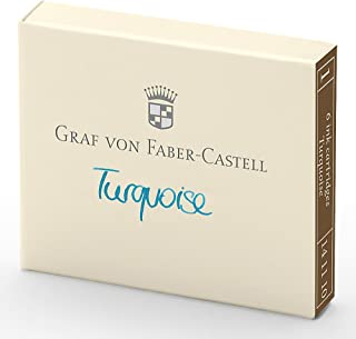 Faber-Castell GF141110 6-Pieces Ink Cartridge, Turquoise
