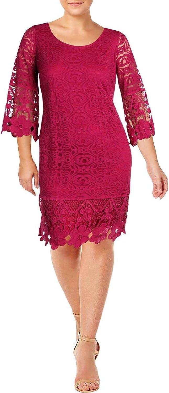 Alfani Womens Plus Long Sleeves KneeLength Party Dress