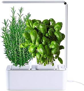 amzWOW Smart Garden Huerto de Interior 100% Eco, para Cultivar Plantas aromaticas Semillas Bio, Plantas Naturales Interior...