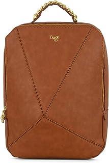 Baggit Spring-Summer 2020 Faux Leather Women's Backpack Handbag (Gold) (L Kinky)