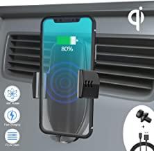 Automatic Sensor Wireless Charger Car Mount, Smart Touch Qi Fast Wireless Charging Air Vent Car Phone Holder for iPhone Xs Max/XR/XS/X/8 Plus, Samsung Galaxy S9 Plus/S8/S8 Plus/Note 9/8 All Qi-Enabled
