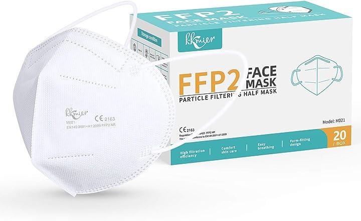 Mascherine ffp2 certificate ce 20 pezzi, mascherine ffp2 protettive monouso kkmier MaskFFP2-01