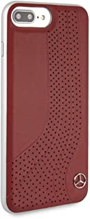 CG Mobile Mercedes Benz Genuine Leather Case for iPhone 8 Plus and iPhone 7 Plus Hard Cell Phone Cover Red Easy Snap-on Shock Absorption Cover Officially Licensed.
