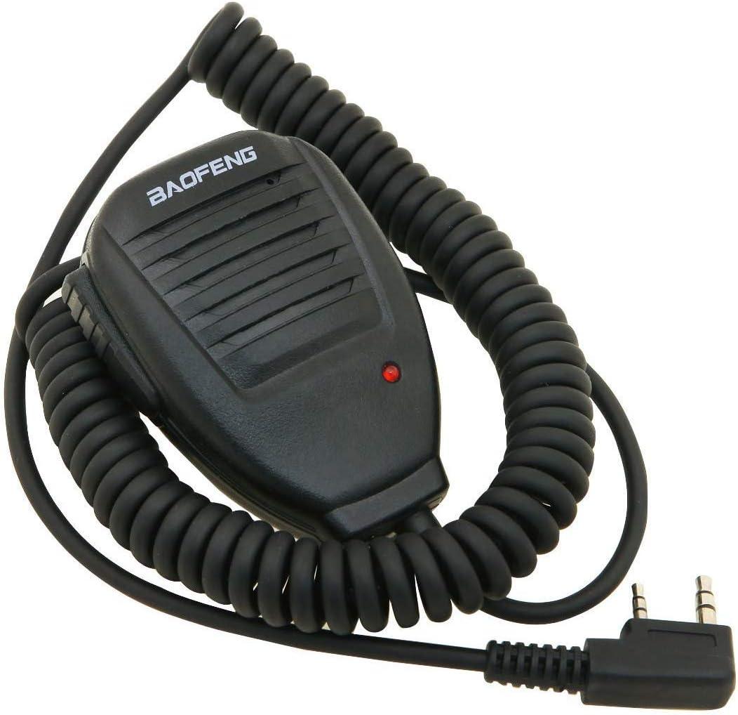 Auricular-Micrófono 2 Pin PTT para Emisora Walkie Baofeng ...