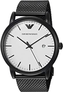 Emporio Armani Men's Quartz Watch, Analog Display and Stainless Steel Strap AR11046