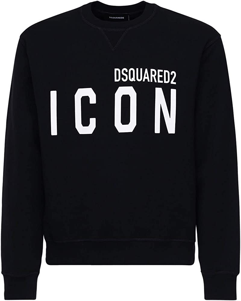 Dsquared2  icon,felpa per uomo black white,100 % cotone S79GU0004S25042900