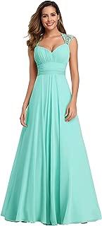 Chiffon Sexy V-Neck Ruched Empire Line Evening Dress 09672