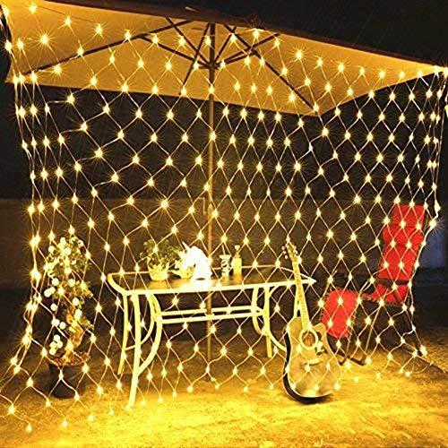 Aquyy Led-mesh-sprookjes-snoerlicht, waterdichte lampparels, 8 verlichtingsmodi, kerstboom wrapped binnen- en buitenverlichting decoraties, warm wit licht