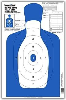 B27Q Half-Size Silhouette - Paper Gun Range Shooting Targets 12.5