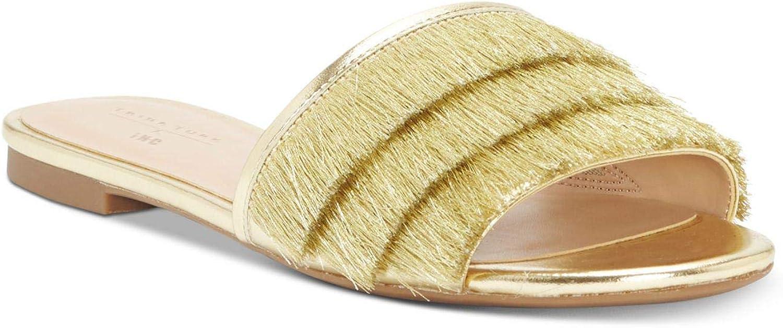 INC International Concepts Womens Maira2 Fabric Open Toe Casual Slide Sandals