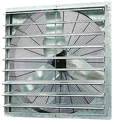 "iLiving - 36"" Wall Mounted Shutter Exhaust Fan - Automatic Shutter - Single Speed - Vent Fan For Home Attic, Shed, or Garage Ventilation, 6128 CFM, 9000 SQF Coverage Area"
