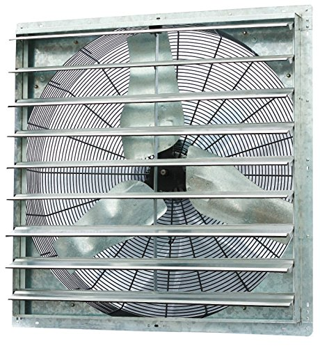 Iliving - 36' Wall Mounted Shutter Exhaust Fan - Automatic Shutter - Single Speed - Vent Fan For Home Attic, Shed, or Garage Ventilation, 6128 CFM, 9000 SQF Coverage Area, Silver (ILG8SF36S)