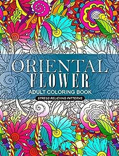Oriental Flower Adult Coloring Book