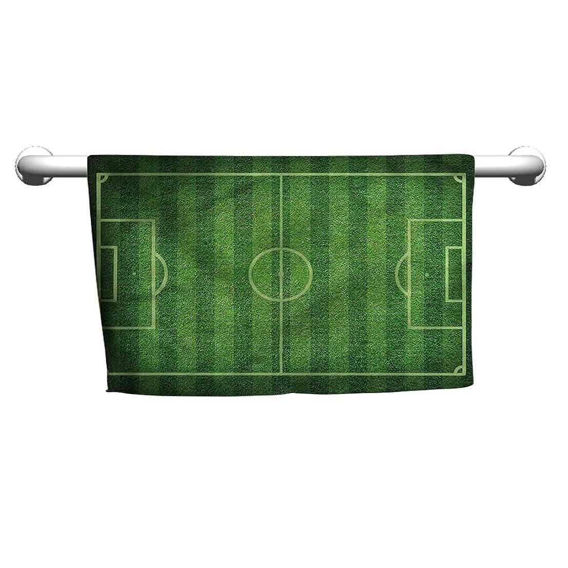 ニュース失望リースBensonsve タオル 男の子の部屋 グリーンの芝生 サッカー マイクロファイバーヘアタオル カールヘア用