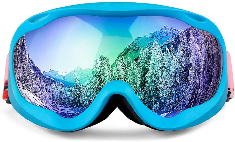 pb+ Gafas de Esquí, Máscara Gafas Esqui Snowboard Nieve Espejo Casco Anti Niebla Protección UV