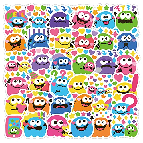 XIANYING Pegatinas de Dibujos Animados Impermeables de Anime para monopatín, Maleta, Guitarra, Equipaje, portátil, Pegatina de Juguete, 50 Piezas