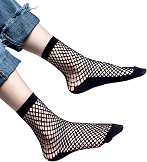 DZT1968 Women spring Summer extension Fishnet Plain Top-Ankle Short Socks Stylish
