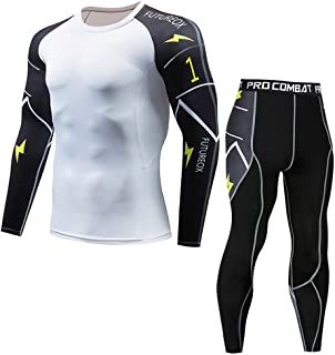 Men's Long Sleeve Compression Shirt,Mlide Casual Fitness T-shirt Fast Drying Elastic Tops Pants Athletic Sports Suit