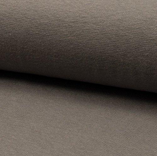 0,5m Bündchen uni taupe 70cm breit Meterware Bündchenware Bündchenschlauch