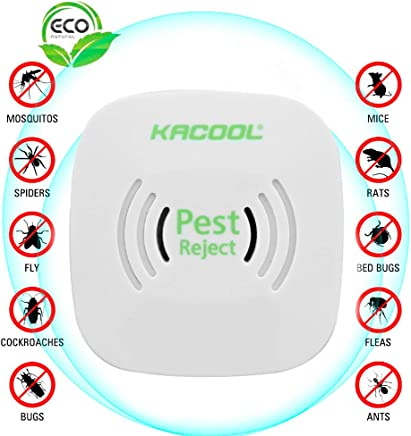 KACOOL Ultrasonic Pest Repeller Repellent, Home Pest Control Reject Device Non-Toxic Spider Lizard Mice Repellent Indoor for Mosquito, Ant, Flea, Rats, Roaches, Cockroaches, Fruit Fly, Rodent, Insect