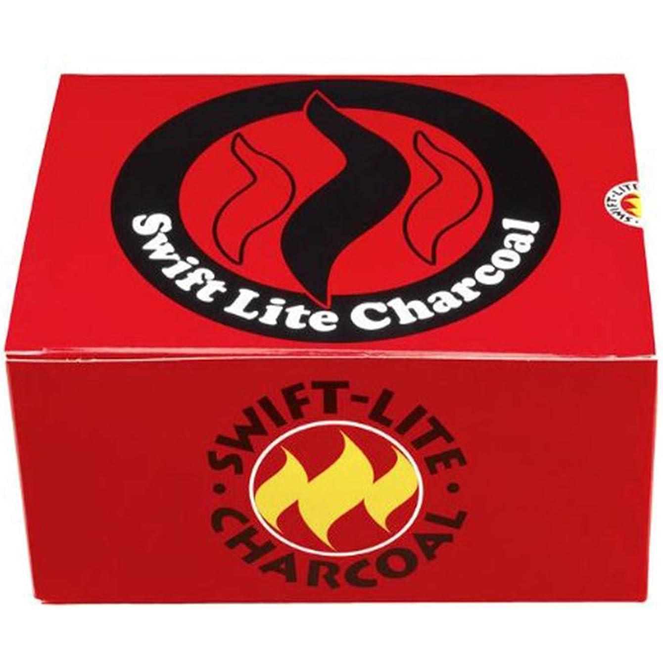 言語公平ジョージバーナードSwift Lite 100個入り 40mm チャコールタブレット お香 / 水タバコ燃焼用