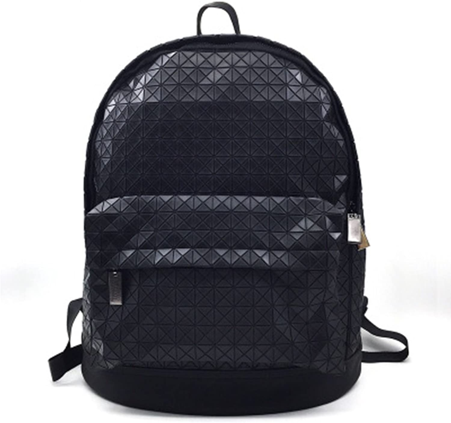 RYRYBH Unisex Backpack Casual Backpack Diamond Shape Computer Backpack Large Capacity Laser Bag for Work, School, Daily Use  13.4 (L) X 7.1 (W) X 7.5 (H) Backpack (color   Black, Size   OneSize)