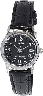 Casio Women's LTPV002L-1B Silver Leather Japanese Quartz Fashion Watch
