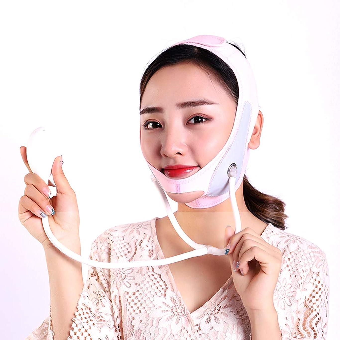 突進打倒擬人顔の減量フェイスマスク引き締め皮膚改善咬筋リフティング収縮薄い顔弾性包帯 V 顔アーティファクト