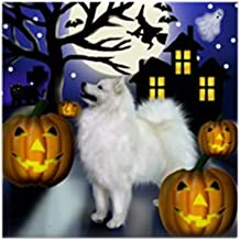 CafePress - Samoyed Dog Halloween Tile Coaster - Tile Coaster, Drink Coaster, Small Trivet