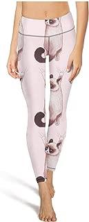 Lady Yoga Pants Meow Cat Tummy Hips Yoga Leggings with Pockets