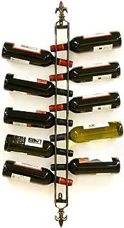Xiafeng Fleur De Lis 10 Bottle Wall Mounted Wine Rack