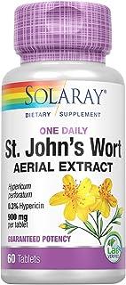 Solaray St. Johns Wort Aerial Extract One Daily 900mg   Standardized w/ 0.3% Hypericin for Mood Stability & Brain Health S...