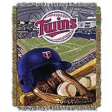 NORTHWEST MLB Minnesota Twins Woven Tapestry Throw Blanket, 48' x 60', Home Field Advantage