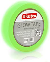 XFasten Glow in The Dark Tape, Yellow/Green, 1-Inch x 30-Foot Photo-Luminescent Glow Dark Duct Tape