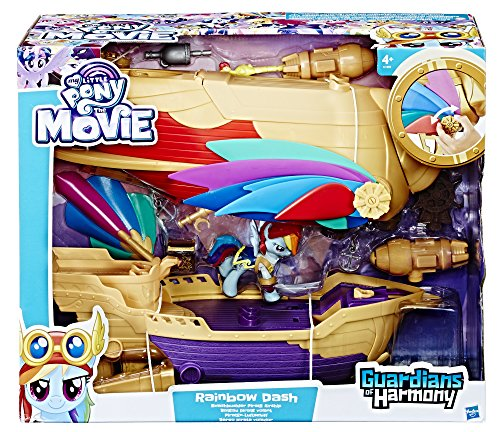 Hasbro My Little Pony C1059EU4 - Rainbow Dash Piraten-Luftschiff, Spielset